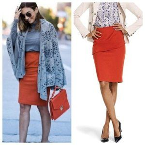 NEW cAbi High-Rise Turmeric Boho Pencil Skirt